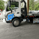 Core Support Auto Recycling Flat Bed Tow Truck